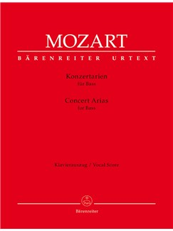 W. A. Mozart: Concert Arias For Bass Voice And Piano Books | Bass Voice, Piano Accompaniment