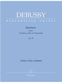 Claude Debussy: String Quartet - Parts (Bärenreiter Urtext) Books | String Quartet