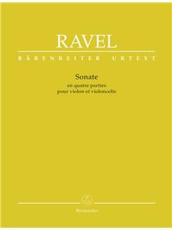 Maurice Ravel: Sonata For Violin And Violoncello (Urtext) Books | Cello, Violin