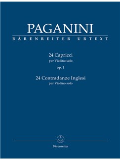 Niccolo Paganini: 24 Caprices Op.1& 24 Contradanze Inglesi For Violin Solo Books | Violin