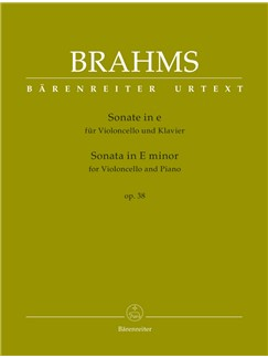 J. Brahms: Sonata In E Minor Op.38 For Cello & Piano Books | Cello, Piano Accompaniment