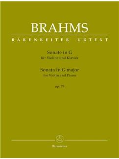 J. Brahms: Sonata In G Op.78 For Violin & Piano Books | Violin, Piano Accompaniment