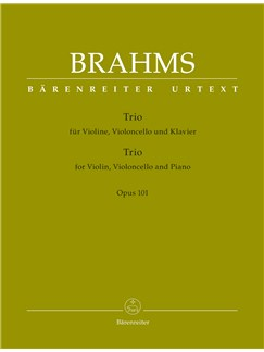 Johannes Brahms: Piano Trio In C Minor, Op.101 (Urtext) Books | Cello, Violin, Piano Chamber