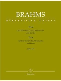 Johannes Brahms: Trio For Clarinet (Viola), Violoncello And Piano Op.114 Books | Clarinet, Viola, Cello, Piano Chamber