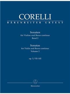 Sonatas for Violin and Basso continuo, Op.5 Vol.2: Nos 7-12 (Urtext) Books | Violin, Piano Accompaniment