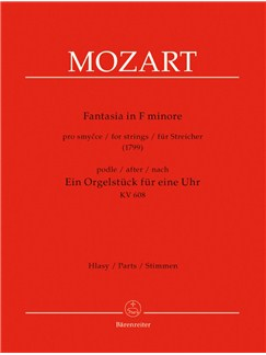 W. A. Mozart: Fantasia In F Minor For Strings K.608 (String Set) Books | String Ensemble