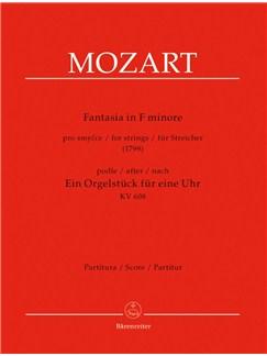 W. A. Mozart: Fantasia In F Minor For Strings K.608 (Full Score) Books | String Ensemble