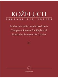 Leopold Kozeluh: Complete Sonatas For Keyboard III Books | Piano
