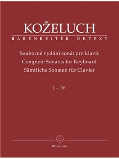 L. Kozeluch: Complete Sonatas For Keyboard Solo Volumes 1-4 Books | Piano