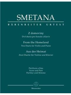 Bedrich Smetana: Aus Der Heimat (Barenreiter Urtext Edition) Books | Violin, Piano Accompaniment