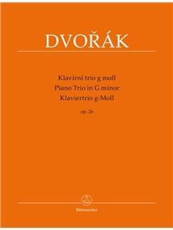 Antonín Dvorák: Piano Trio For Piano, Violin And Violoncello In G Minor Op.26 Books | Piano Chamber, Violin, Cello