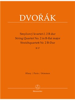Antonín Dvořák: String Quartet No. 2 In B-flat B 17 (Parts) Books | String Quartet