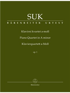 Josef Suk: Piano Quartet In A minor Op 1 Books   Piano Chamber