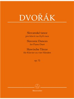 Antonin Dvorak: Slavonic Dances, Op.72 (Series II, Nos. 1 - 8) Piano Duet Books | Piano Duet