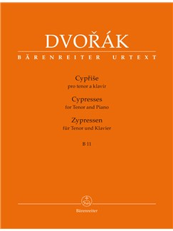 Antonín Dvorák: Cypresses For Tenor And Piano B 11 Books | Tenor, Piano Accompaniment