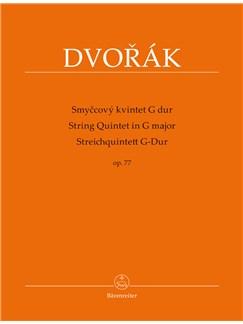 Antonin Dvorak: String Quintet In G, Op.77 - Parts Books | Chamber Group, String Ensemble