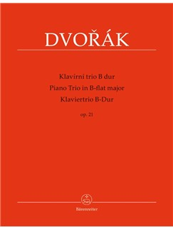 Dvorak: Piano Trio No.1 In B-Flat Op.21 (Score And Parts) Books | Trio