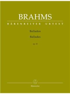 Johannes Brahms: Ballades Op.10 Books | Piano