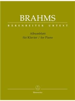 Johannes Brahms: Albumblatt (Urtext) - Piano Books | Piano