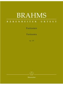 Johannes Brahms: Fantasies Op.116 (Barenreiter Urtext) Books | Piano