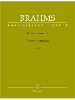 Johannes Brahms: Three Intermezzi Op.117 (Barenreiter Urtext) Libro | Piano