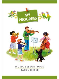 My Progress - Music Lesson Book - Aufgabenheft Mit Stickerbogen Books | Violin