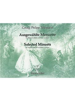 G. P. Telemann: Selected Minuets For Descant Recorder And Piano Books | Piano Accompaniment, Soprano (Descant) Recorder