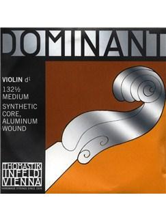 Thomastik: Dominant 132 1/2 Medium Violin D String - Synthetic Core/Aluminium Wound  | Violin