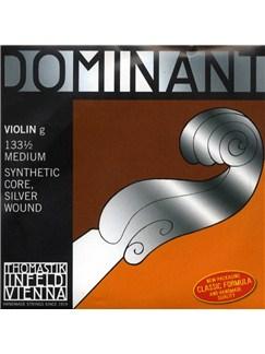 Thomastik: Dominant 133 1/2 Medium Violin G String - Synthetic Core/Silver Wound    Violin