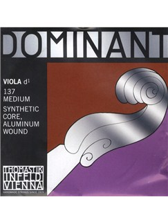 Thomastik: Dominant D 2nd 4/4 - Medium Single Viola String  | Viola