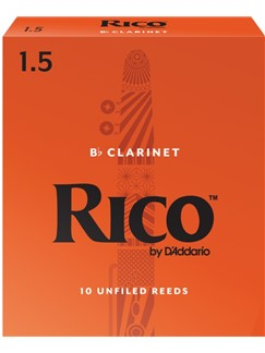 Rico: B Flat Clarinet Reeds - Strength 1.5 (10 Pack)  | Clarinet