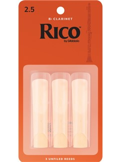 Rico: B-Flat Clarinet Reeds - Strength 2.5 (Three Pack)  | Clarinet