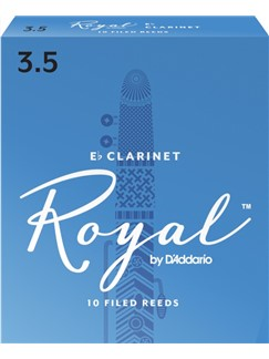 Rico: Royal E Flat Clarinet Reeds - Strength 3.5 (Pack Of 10)  | Clarinet