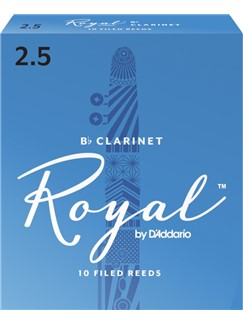 Rico Royal: Clarinet Reeds 2.5 (Pack Of 10)  | Clarinet