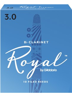 Rico Royal: Clarinet Reeds 3 (Pack Of 10)  | Clarinet