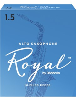Rico Royal: Alto Saxophone Reeds 1.5 (Box Of 10)  | Alto Saxophone