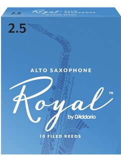 Rico Royal: Alto Saxophone Reeds 2.5 (Box Of 10)  | Alto Saxophone