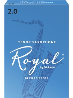 Rico Royal: Tenor Saxophone Reed (Strength 2) Pack Of 10  | Tenor Saxophone