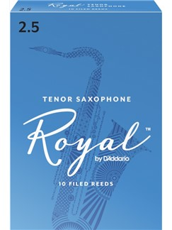 Rico Royal: Tenor Saxophone Reed (Strength 2.5) Pack Of 10  | Tenor Saxophone
