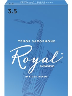 Rico Royal: Tenor Saxophone Reed (Strength 3.5) Pack Of 10  | Tenor Saxophone