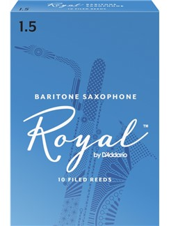 Rico Royal: Baritone Saxophone Reed 1.5 (Box Of Ten)  | Baritone Saxophone