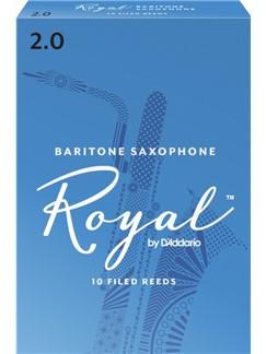 Rico Royal: Baritone Saxophone Reed 2 (Box Of Ten)  | Baritone Saxophone