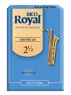 Rico Royal: Baritone Saxophone Reed 2.5 (Box of 10)  | Baritone Saxophone