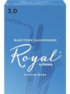 Rico Royal: Baritone Saxophone Reed 3 (Box Of Ten)  | Baritone Saxophone