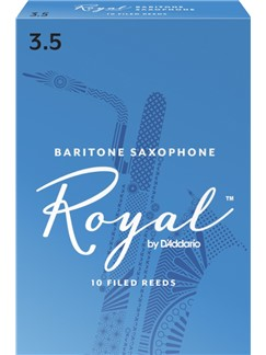 Rico Royal: Baritone Saxophone Reed 3.5 (Box Of Ten)  | Baritone Saxophone