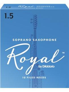 Rico Royal Soprano Saxophone Reeds: Size 1.5 (Pack Of 10)  | Soprano Sax