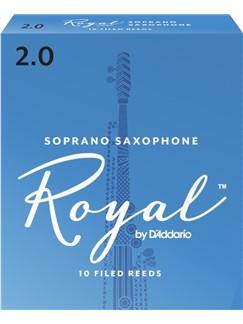 Rico Royal Soprano Saxophone Reeds: Size 2 (Pack Of 10)  | Soprano Sax