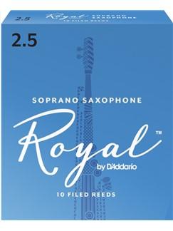 Rico Royal Soprano Saxophone Reeds: Size 2.5 (Pack Of 10)  | Soprano Sax