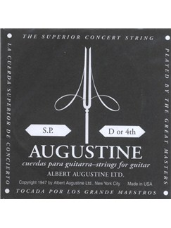 Augustine: Single 4th Classical Guitar String - D  | Classical Guitar