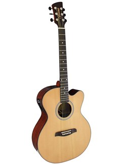 Brunswick: BTK50NA Auditorium Electro-Acoustic Guitar - Natural Instruments | Electro-Acoustic Guitar